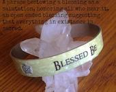 Slim Cuff Bracelet Blessed Be