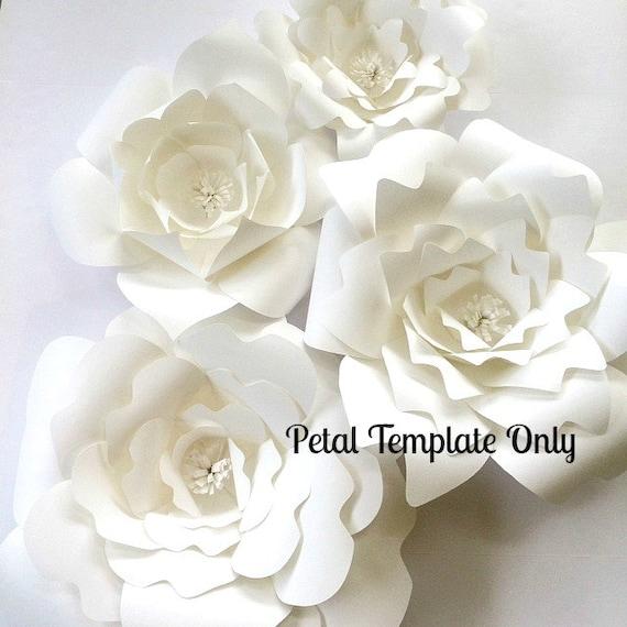 Paper Flower Wall Template