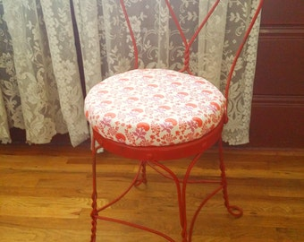 Local Pickup in LA Only • Vintage Bohemian Orange Florall Chair