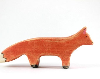 fox waldorf toy , wooden fox toy, fox figurine, wooden waldorf toys, wood toy