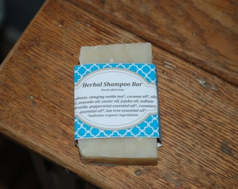 Herbal Shampoo Bar Soap with organic ingredients