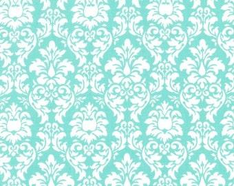 Petite Dandy Damask in Aqua by Michael Miller Fabrics - you choose the cut