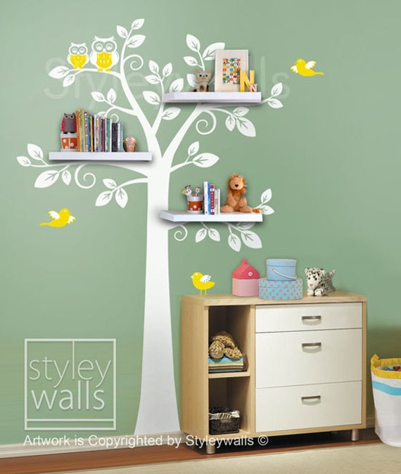 Shelving Tree Wall Decal