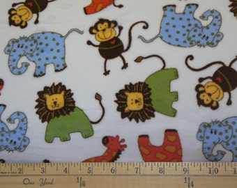 Zoo Buddies Cuddle Minky Fabric by Shannon Fabrics - 1 yard