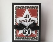 50th Birthday Handmade Card