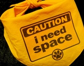 i need space yellow dog bandana