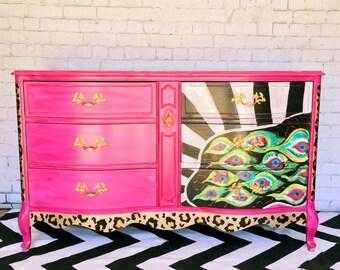 Sold|Hand Painted Dresser|Custom|Unique
