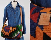RESERVED on LAYAWAY Vintage woven wool Kilim purse / Oversized design / Bohemian TURKISH bag