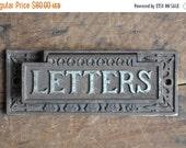40% OFF SALE Authentic Vintage Eastlake Cast Iron Letters Door Slot E2162