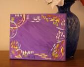 Custom 8x10 purple painted background