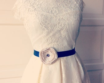 Romantic  Bridal   Satin Belt Flower Sash for Wedding, bridalbelt