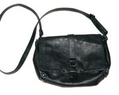 Cool Black Rocker Bag with Metal Hardware- Size M