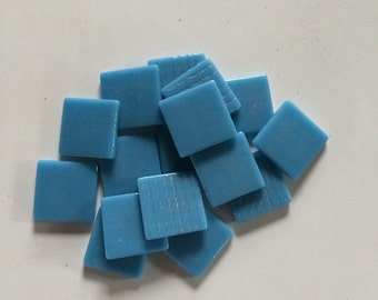 "Turquoise 1"" Glass  Tile-20 pc"