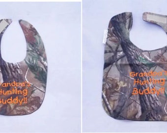 Grandpa's Hunting Buddy - Small OR Large Baby Bib