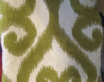 Green and Ivory Transitional Fabric