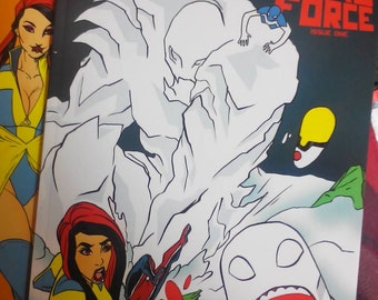 Flag Force Issue 1 Print comic book signed with art sketch by Boo rudetoons