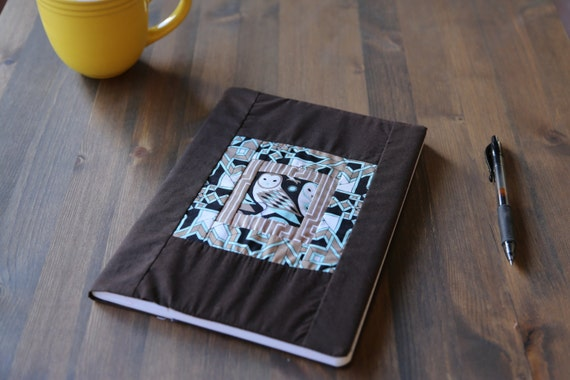 Modern Quilt Journal Book Cover - The Owl