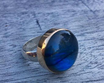 1Ready To Ship Labradorite Cocktail Ring~ 19mm