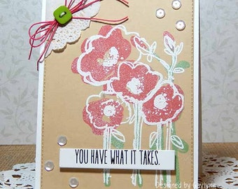 What It Takes Encouragement Handmade Card