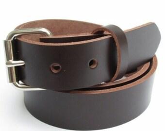 Mens Heavy Duty Leather Belt 2 Inch Wide Black Amp Brown