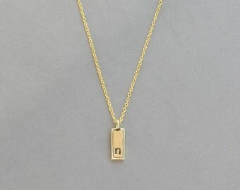 Gold Plated Initial n Necklace