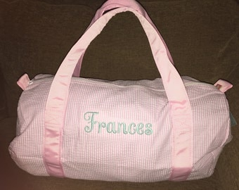 monogrammed girls and boys duffle