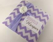 Baby photo album girl baby album personalized baby shower gift 4x6 photo album 5x7 purple chevron- chic flower