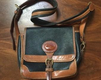 vintage black/brown pebbled leather Dooney & Bourke purse