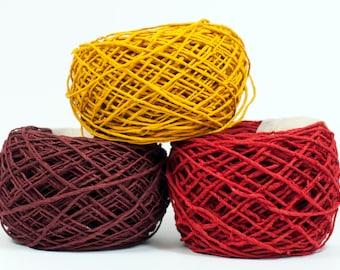 Handmade Paperyarn - Paper Twine - Lokta Paper - 55 yards (50m) - Hand Dyed - DIY, Crafts, Giftswrap