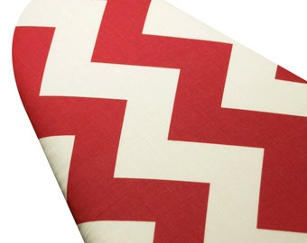 Ironing Board Cover standard and custom sizes including Brabantia Select the Size Riley Blake giant red and white chevron
