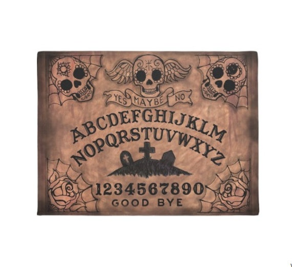 Sugar Skull Ouija Board Welcome Mat