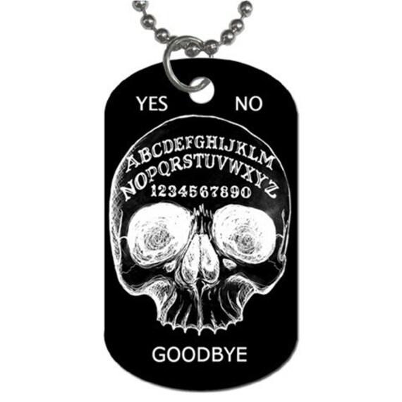 Ouija Board Skull Dog Tag
