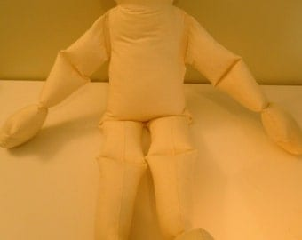 Muslin Doll Big Bendy Baby Toddler Body-rag doll form-Jointed Therapy doll