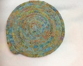 Coiled Hot Pad Cotton Batik from Hoffman Fabric Coiled Trivet