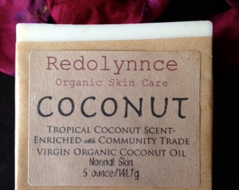 Palm Free.....Coconut--Organic Goats Milk Soap GMO and Cruelty Free.