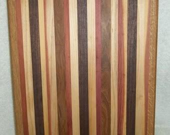 Handmade Xtra Large Multi-Wood Rectangle Cutting Board