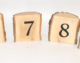 Table Numbers ~ 1-10 Half Log Sand alone Table Numbers ~ Woodland wedding table numbers ~ Rustic Wood Slice ~ Party Decoration ~ Reunions