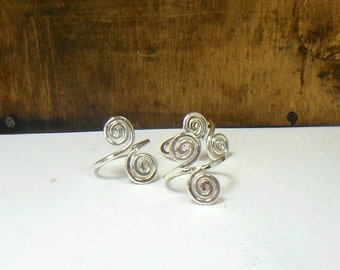 Sterling Silver Coiled Toe Ring