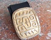 30% off storewide /// SALE  / Vintage 1980s witchy brass cast statement belt