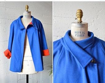 30% OFF STOREWIDE / Vintage 1980s CHLOE two-tone wool coat