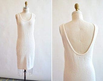 Vintage 1990s ESPRIT backless knit dress