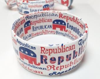 Republican Elephant Bracelet- Republican Political Jewelry - Republican 2016 - Election Year - Republican Party - GOP - Political Bracelet