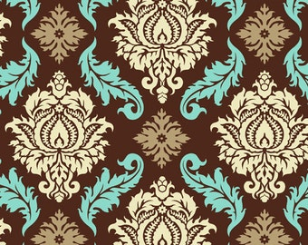 Aviary 2 Damask in Bark by Joel Dewberry Cotton Quilting Fabric
