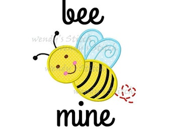 Bee Mine Sample Sale Shirt, Valentine's Day Appliqued, Short or Long Sleeve Shirt, Name Embroidered