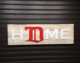 Detroit Red Wings D HOME plaque, sign