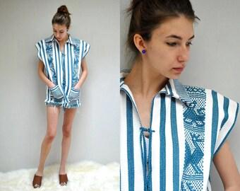 Guatemalan Tunic  //  Hippie Blanket Jacket  //  THE THUNDERBIRD