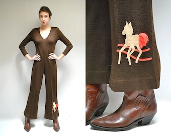 70s Jumpsuit //  Knit Jumpsuit  //  THE DERBY