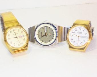 Vintage Mens Wrist Watch Lot, Jewelry
