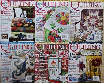 McCall's Quilting Magazines 6 Issues  Quiltsy Destash Party