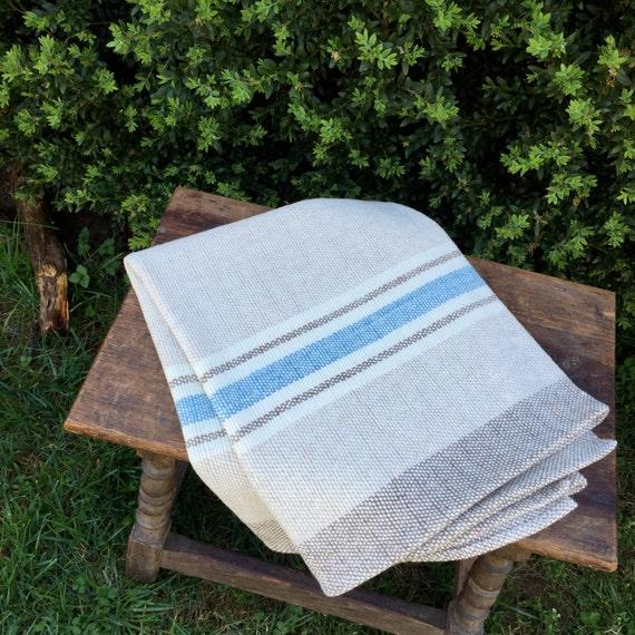 Hand Woven Merino Wool Baby Blanket